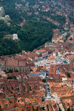 Old center of Brasov city Stock Photos