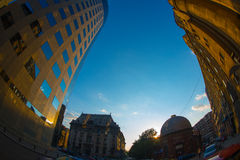 The old center of Bucharest royalty free stock photography