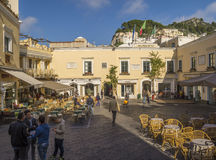 Old center of Capri Island Royalty Free Stock Images