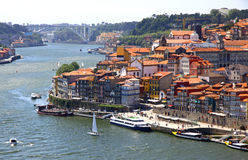 Old center of City of Porto and Douro river, Portugal Royalty Free Stock Image