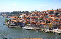 Old center of City of Porto and Douro river, Portugal Royalty Free Stock Images