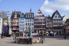 Old center of Frankfurt am Main city, Romer Platz Royalty Free Stock Photos