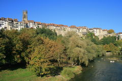 Old center of Fribourg Royalty Free Stock Images