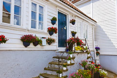 Old centre of Stavanger - Norway Stock Image