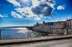 Ortigia island in Syracuse, Sicily Royalty Free Stock Photo