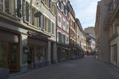 Old centre of Vevey, Switzerland Stock Image