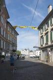 Old centre of Vevey, Switzerland Royalty Free Stock Photo