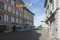 Old centre of Vevey, Switzerland Royalty Free Stock Photos