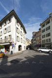Old centre of Vevey, Switzerland royalty free stock photography