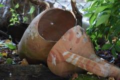 Old ceramic amphora. Old amphora ancient vase pottery antique ceramic pot decorative background decoration retro clay royalty free stock images