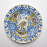 Old ceramic dish from Talavera, Spain. Circa 19th century Stock Images
