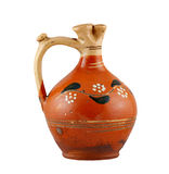 Old ceramic flagon Stock Images