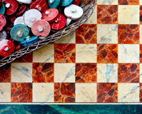 Old ceramic mosaic Stock Photos