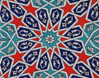 Old ceramic  oriental tile Stock Images