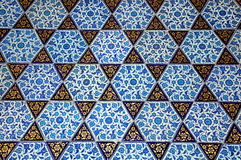 Old ceramic  oriental tile Royalty Free Stock Images