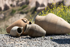 Old ceramic pots in Cappadocia, Stock Images