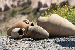 Old ceramic pots in Cappadocia, Stock Images