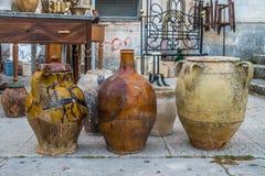 Old ceramic pots Stock Photo