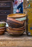 Old ceramic pots Stock Images