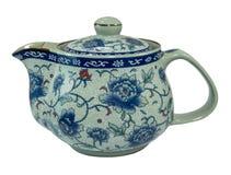 Japanese pattern ceramic tea pot . ceramic pottery porcelain stock photos