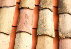 Old ceramic roof tiles Stock Image