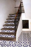 Old ceramic stairs Stock Photo