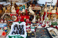Old ceramic things at flea market Royalty Free Stock Image