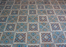 Old ceramic tile floor,Shooting angle in obliquely. Stock Images
