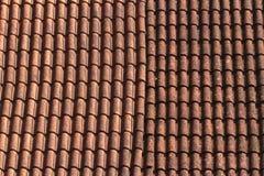 Old ceramic tile roof close up. background Stock Image