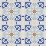 Old ceramic tiles patterns background Stock Photo