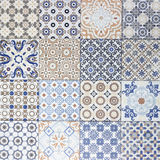 Old ceramic tiles patterns background Stock Images
