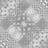 Old ceramic tiles patterns background in the park public Stock Photos