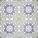 Old ceramic tiles patterns handicraft from thailand. In the park public royalty free illustration