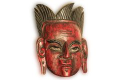 Old ceremonial mask from South America Stock Images