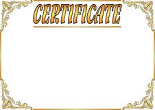 Old certificate Royalty Free Stock Photo