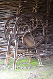 Old chaff-cutter. In  a village, the country Royalty Free Stock Images