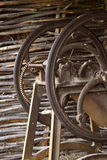 Old chaff-cutter. In  a village, the country Royalty Free Stock Photo