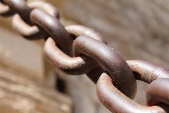 Old Chain Royalty Free Stock Photography