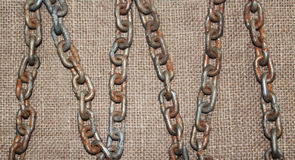 Old chain background Royalty Free Stock Images