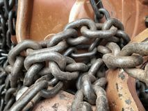 Old chain for car Royalty Free Stock Photo