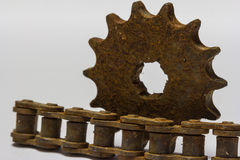 Old chain gear Royalty Free Stock Images