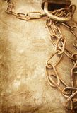Old chain on grunge background Stock Photography
