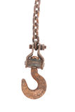 Old chain with hook Royalty Free Stock Photos