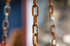 Old chain. Old iron chain which is corroded Royalty Free Stock Image
