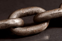 Old chain links Royalty Free Stock Photos