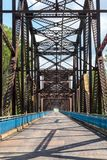 The old Chain Of Rocks bridge. stock image