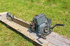 Old  chain saw Royalty Free Stock Photography