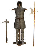 Old chainmail and weapons royalty free illustration