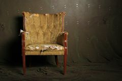 Old chair. Vintage chair with dramatic lighting royalty free stock image
