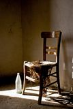 Old chair. South italian old chair,Italy Royalty Free Stock Images